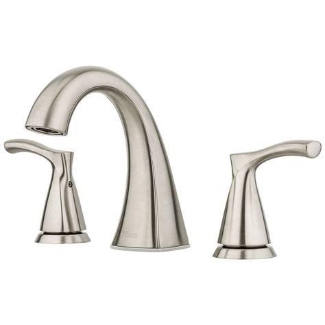 lowes bathroom sink faucets brushed nickel shop pfister masey brushed nickel 2 handle widespread