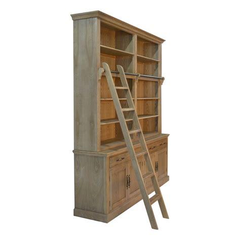 Bookshelf Hutch by Provincial Htons Oak Open Buffet