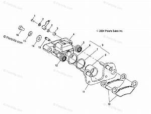 Polaris Atv 2005 Oem Parts Diagram For Front Brake   Ab  Ac