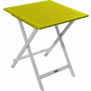 Table Balcon Pliante : table pliante carr e en bois fsc color pour balcon terrasse et petit jardin ~ Teatrodelosmanantiales.com Idées de Décoration