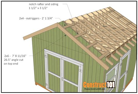 Garden Shed Plans 12x12 by 12x12 Shed Plans Gable Shed Construct101