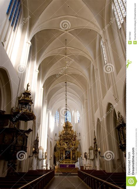 gothic church interior stock photo image  medieval