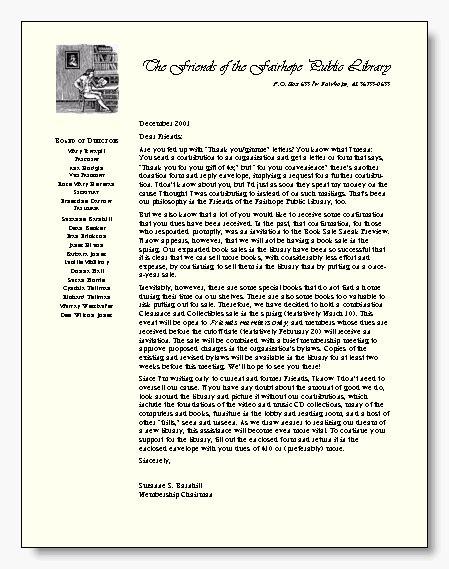 business letter template  letterhead   side tex
