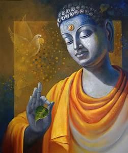 Budhha Painting Wisdom Painting by Artist Sanjay Lokhande ...