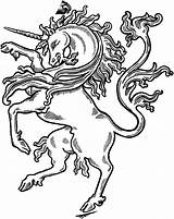 Unicorn Coloring Pages Realistic Animal sketch template