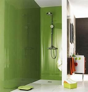 amenager une salle de bains galerie photos de dossier With panneau de couleur peinture murale 13 lambris castorama