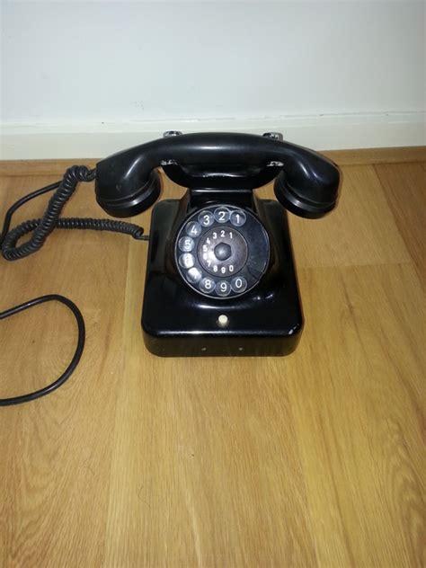 bakelite black telephone siemens w48 catawiki