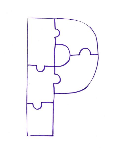 image detail for letter p is for painted puzzle craft and 825 | d21a0c63f8f22686685a8e1f6b5b0aef