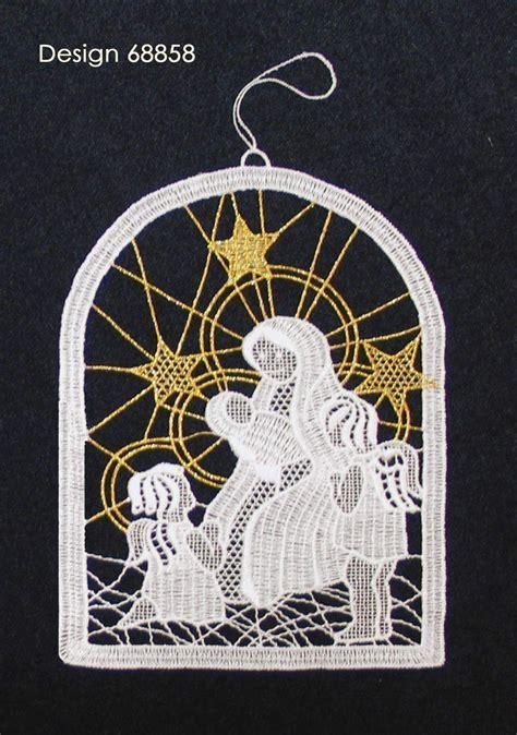 Fensterbilder Weihnachten Vorlagen Krippe by Plauener Spitze Fensterbild Krippe Stickerei