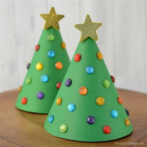 christmas tree tissue paper cone tree craft paper cone tree kid craft the resourceful