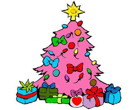 dibujo de mi 225 rbol de navidad rosa pintado por janami en