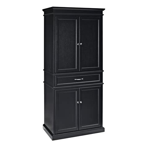 Pantry Cabinets Lowes by Crosley Furniture Black Poplar Pantry At Lowes