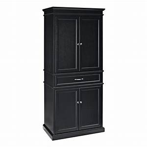 Shop crosley furniture black poplar pantry at lowescom for Kitchen cabinets lowes with outdoor metal star wall art