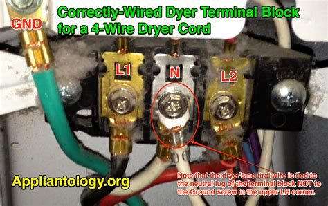 Correctly Wired Dyer Terminal Block For Wire Dryer