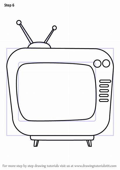 Draw Television Step Drawing Learn Tutorials Objects