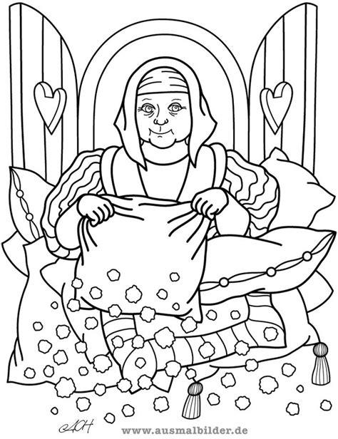 Kleurplaat Vrouw Holle by Vrouw Holle Grimm Zoeken Sprookjes