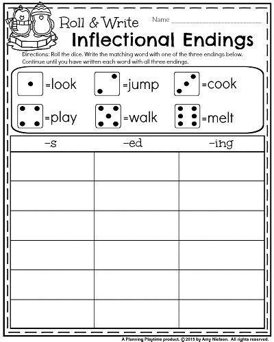 1st grade worksheets for january language arts