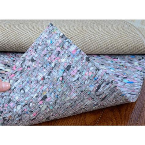 lowes rug pad shop nance 72 in x 108 in foam dual surface rug pad at