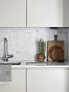 Plan De Travail Cuisine Marbre : cuisine marbre finesse et l gance intemporelle ~ Melissatoandfro.com Idées de Décoration