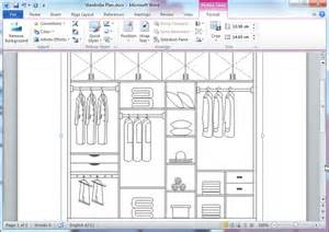 make your own blueprints free closet plan templates for word