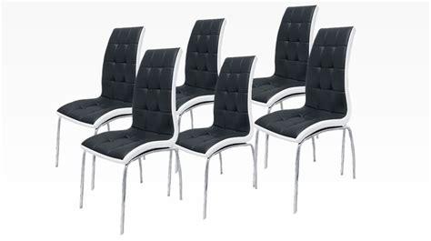 chaise noir et blanc delphia lot de 6 chaises noir et blanc