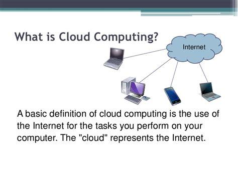 cloud definition cloud computing powerpoint