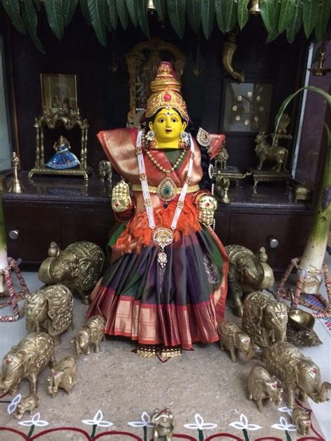Varalakshmi Vratham Decoration Ideas Usa by 17 Best Images About Poojai On Goddesses
