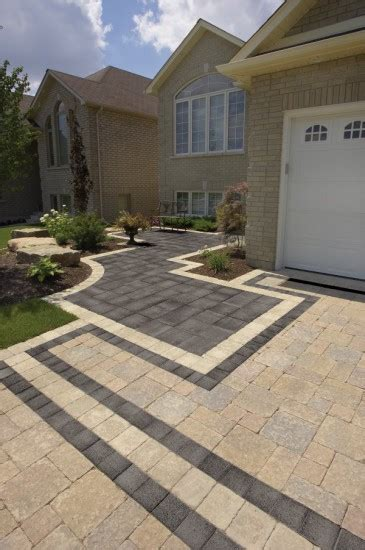 Unilock Driveway - driveway and entrance with series 3000 paver by unilock