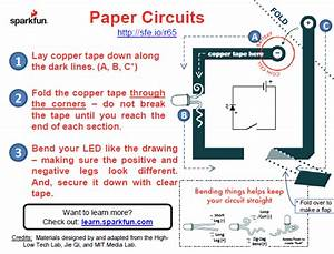 The First Step Of The Paper Circuit Instructions  Sparkfun