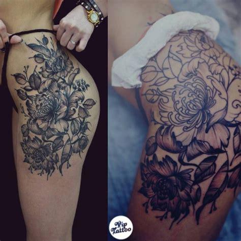 pin  dannielle caddy  tattoos tattoos floral thigh tattoos body tattoos
