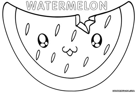 kawaii food coloring pages coloring pages