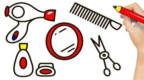 draw hair salon  girls drawing  coloring
