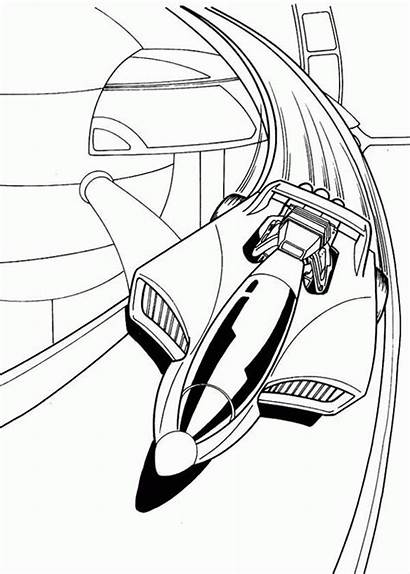 Wheels Coloring Futuristic Cars Pages Drawing Wheel