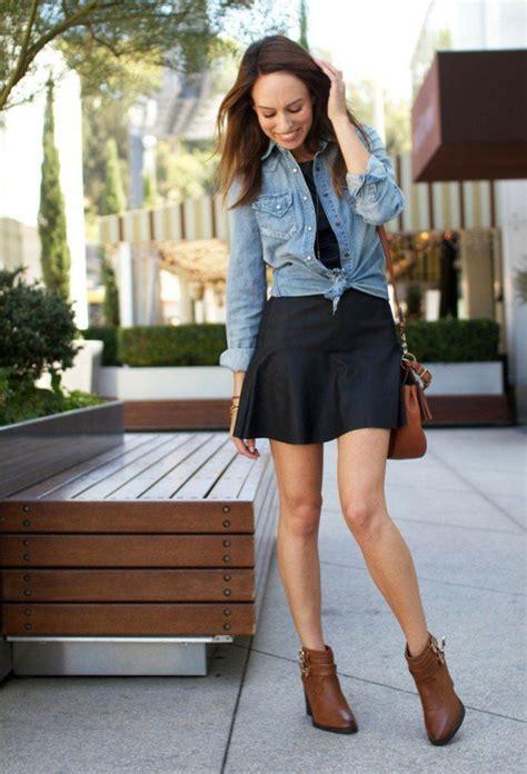 avec quoi porter une chemise en jean 17 meilleures id 233 es 224 propos de et bottines sur habillement de bottines