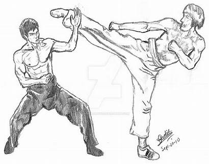 Bruce Lee Coloring Norris Chuck Pages Again