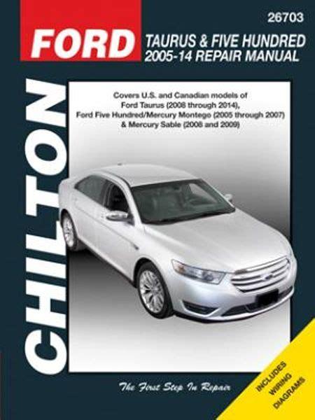 automotive repair manual 2005 mercury sable spare parts catalogs ford taurus 500 mercury montego sable chilton repair manual 2005 2014 hay26703