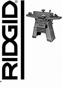 Ridgid Planer Jp06101 User Guide