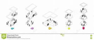 Architecture Exploded Units Diagram Stock Image