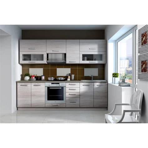 cuisine complete lassen cuisine complète 2m60 décor chêne clair sonoma
