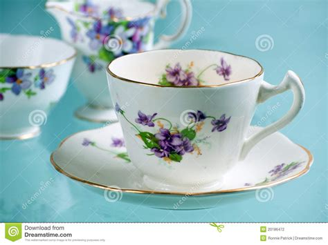 Antikes Feines Porzellan Stockfoto Bild Von Teacup