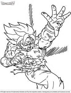 Dragon Ball Z Coloring Pages Super Saiyans