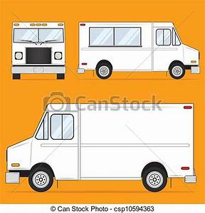 Clip Art Vector of Food Truck Blank - Template ...