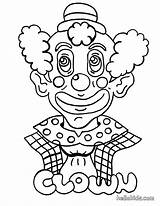 Clown Coloring Palhaco Alien sketch template