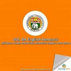 Sol Ba English Honours Syllabus, Study Materials, Question Papers
