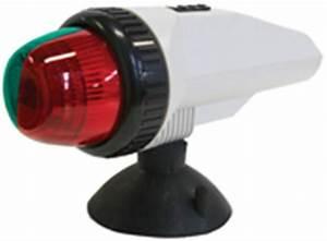 Boat Navigation Light Bi Colour Suction Mount Portable Led
