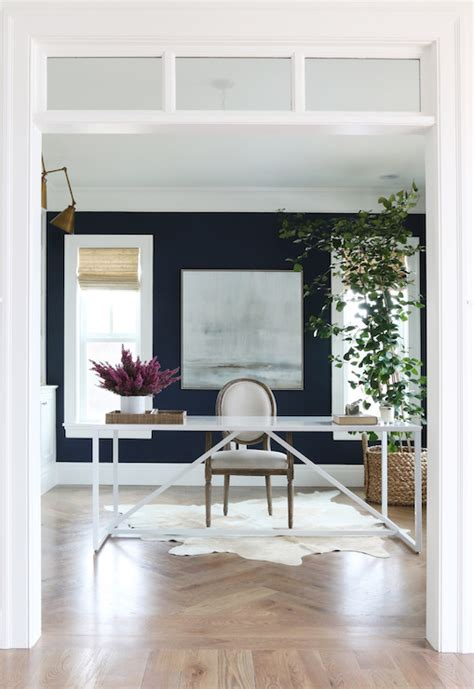 interiors painted  benjamin moore deep royal blue