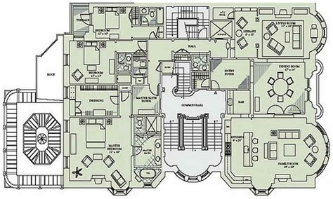 dining room table and floor mansion floor plans