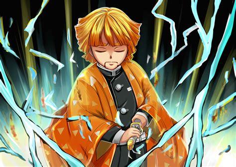 anime demon slayer kimetsu  yaiba zenitsu agatsuma
