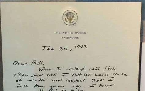 bush letter to obama before he left office bush sr left this letter for bill 47566