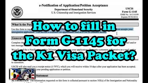 g 4 form how to fill out k1 visa how to fill out form g 1145 for k1 visa packet